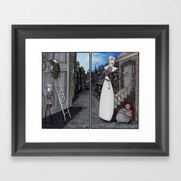 """Us and Them"" Print Framed Art Print"