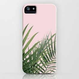Palm Leaves in Pink iPhone Case