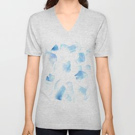 180527 Abstract Watercolour 6| Watercolor Brush Strokes Unisex V-Neck