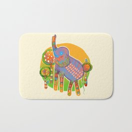 The Quilted Jungle Bath Mat