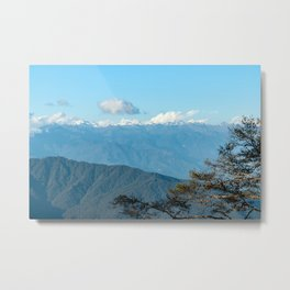 Bhutan: Sunset on Himalaya Metal Print