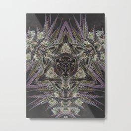 Purple Black Lime #2 Metal Print