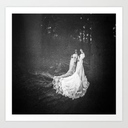 Fairy Bride Double Exposure Holga photo  Art Print