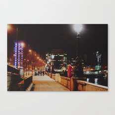 Night Stroll, London.  Canvas Print