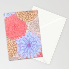 Watercolor Bouquet - Periwinkle Peach Stationery Cards