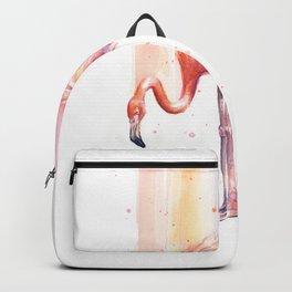Flamingo Watercolor Flamingo Painting Backpack