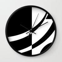tim burton Wall Clocks featuring Burton by Pixiepot Designs