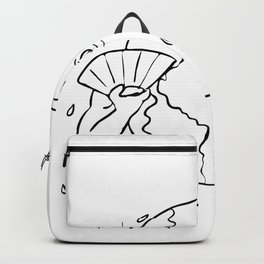 Earth Global Warming Drawing Black and White Backpack