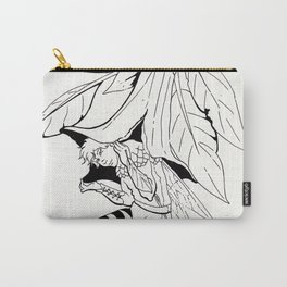 Fairy under angel trumpet - Lineart Carry-All Pouch