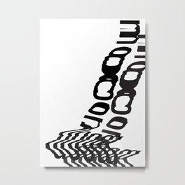Moon typographic poster Metal Print