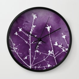 Ultra Violet Botanical Art Wall Clock