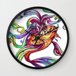 Rainbow Koi Wall Clock