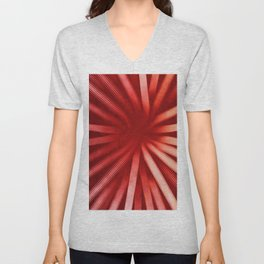 Intersecting-Red Unisex V-Neck