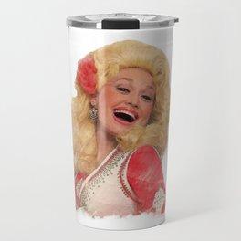 Dolly Parton - Watercolor Travel Mug