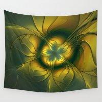 golden Wall Tapestries featuring Golden by gabiw Art