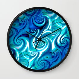 Awesome Lushness Pattern (blue and white) Wall Clock