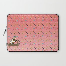 Captain Cat in pink Laptop Sleeve