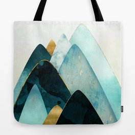 Gold and Blue Hills Tote Bag