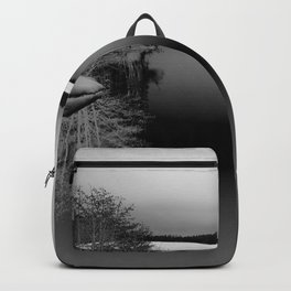 Then There is Cold... in Black and White Backpack