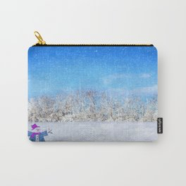 Frosty Season's Greetings Carry-All Pouch