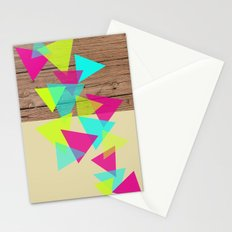 Wood Triangles Stationery Cards