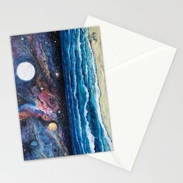 Space Beach Stationery Cards