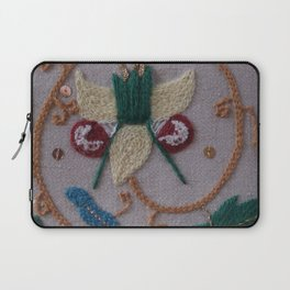 Elizabethan Embroidery Fantasy Flower Laptop Sleeve