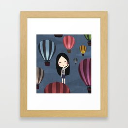 Fly me to around the world  Framed Art Print