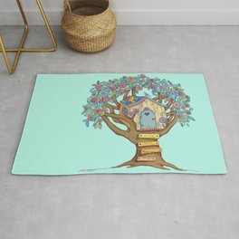 Live Simply, Love Trees Rug
