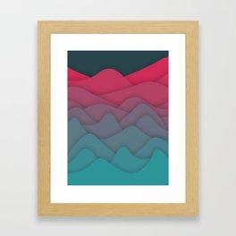 Liquid Mountains Framed Art Print