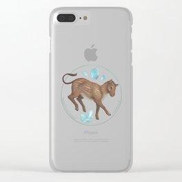 Eohippus angustidens with aquamarine Clear iPhone Case