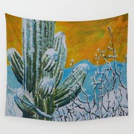 Snowy Desert Wall Tapestry
