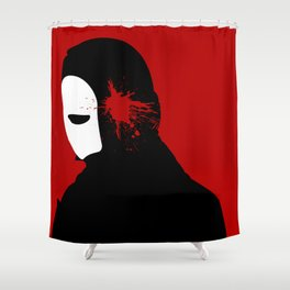 Red Phantom Shower Curtain