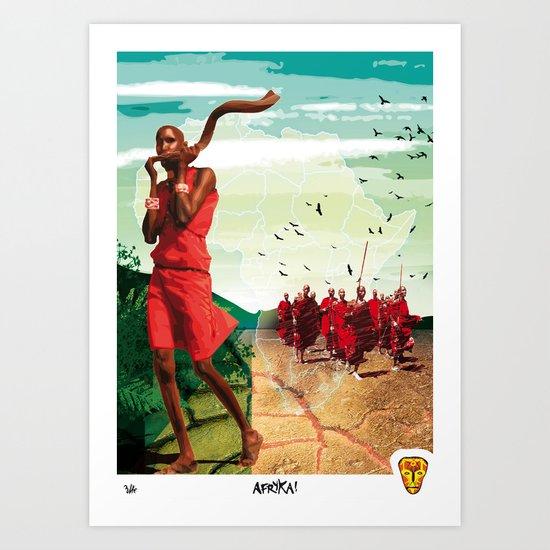 Poster Afryka! Art Print