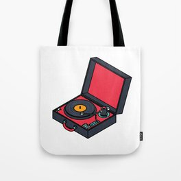 Retro Turntable Tote Bag