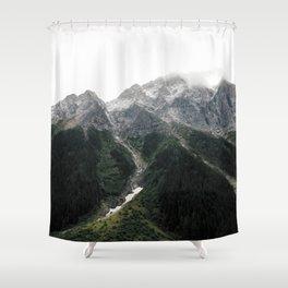 Alberta Misty Mountains Shower Curtain
