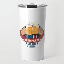 Beer Party Oktoberfest Artowork Travel Mug
