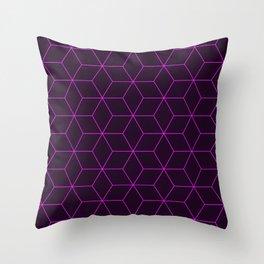 Cube Pattern 01 Pink Throw Pillow