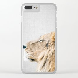Lion Portrait - Colorful Clear iPhone Case
