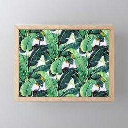 Tropical Banana leaves pattern Framed Mini Art Print