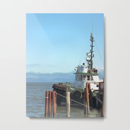 Pilot Boat Bejamin Foss, Columbia River, Astoria, Oregon Metal Print