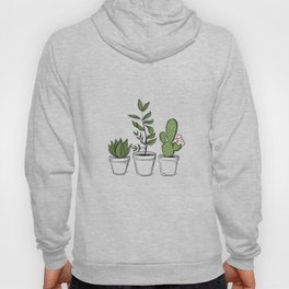 Three Little Succulents Hoody