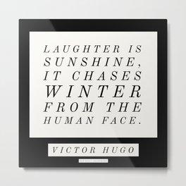 17   Victor Hugo Quotes 200911 Motivational Inspirational Literature Writing Writer Literary Metal Print
