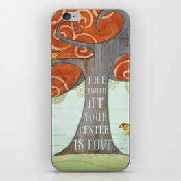 Truth at your Center. iPhone Skin
