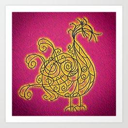 Petite Blonde du Boulevard Brune Art Print