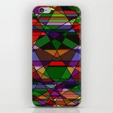 Stain Glass Mosaic Dark iPhone & iPod Skin