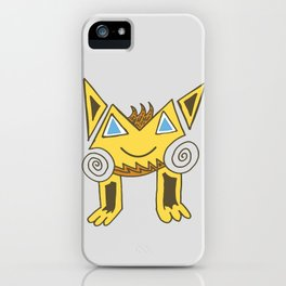 Funny Smiling Cat with blue eyes iPhone Case