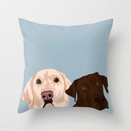 2 Labradors Throw Pillow