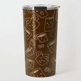 Coffee illustration pattern Travel Mug