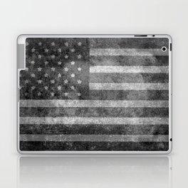 US flag, Old Glory in black & white Laptop & iPad Skin